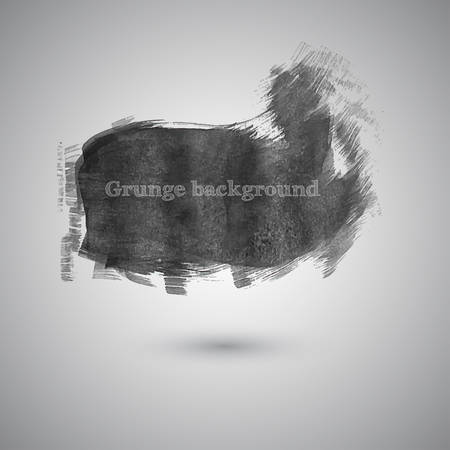 watercolor smear: Large smear broad brush watercolor paint in gray tones vector Illustration