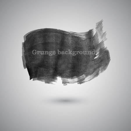 steady: Large smear broad brush watercolor paint in gray tones vector Illustration