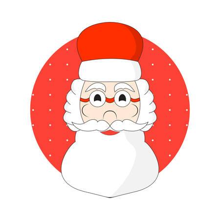 Hand painted head of Santa Claus vector. cartoon style. Stock Illustratie