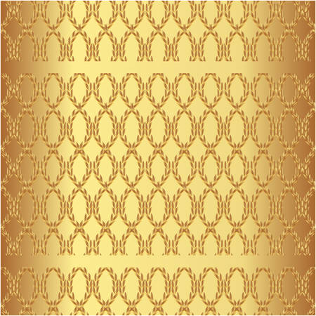 Luxury seamless pattern on a gold background