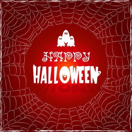 Template frame of the web with the text Happy Halloween