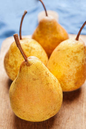 textural: Set of pears on textural background Stock Photo