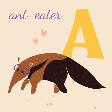 A for the ant-eater Vector