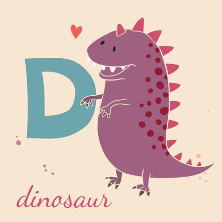 d: Animal & Animals. D for the dinosaur Illustration