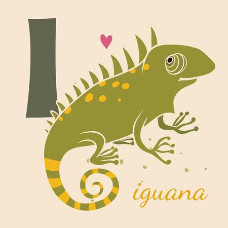 illustrate i: Animal & Animals. I for the iguana