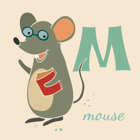 Animal & Animals. M for the mouse Vector