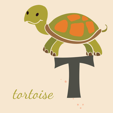 Animal & Animals. T for the tortoise Vector
