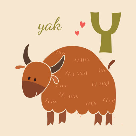 yak: Animal & Animals. Y for the yak Illustration