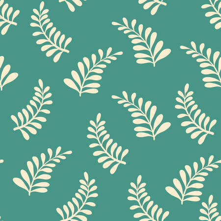 Seamless background pattern. Vector illustration. Wreaths elements, hand-drawn style Vector