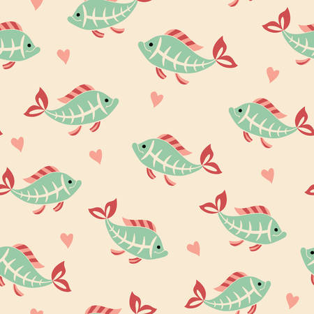 tetra fish: Х-ray tetra fish seamless pattern. Illustration