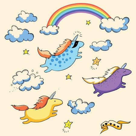 pegaso: Unicornios y arco iris que vuelan, tarjeta
