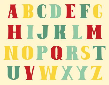 multi colors: The English alphabet multi colors. Draw.