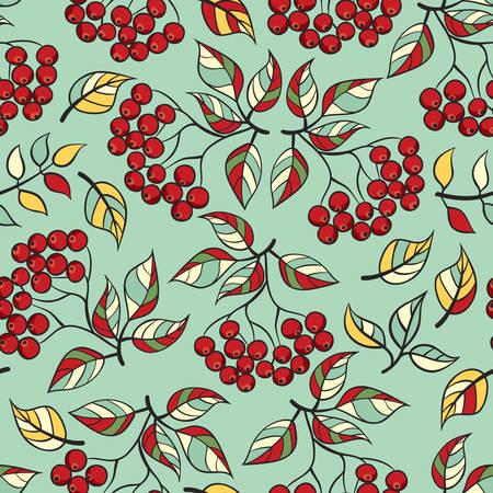 Seamless elderberry pattern. illustrations, hand-drawn style.