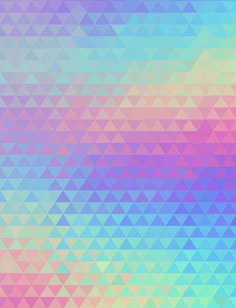 Holographic geometric vector background. 80s and 90s fashion design. Hologram vibrant style, trend art poster. Holography futuristic template. Shiny effect for vibrant banner
