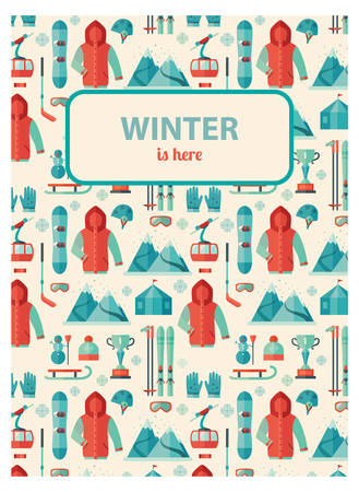 Winter Sports, pattern card whith your text.