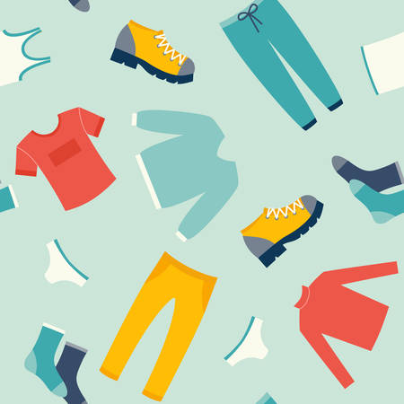 Mens clothes vector seamless vector pattern Illustration