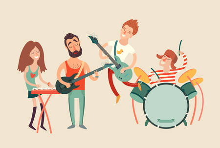 Music party poster, vector illustration