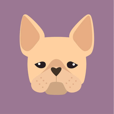 userpic: Terrier, breed dog square icon, vector illustration