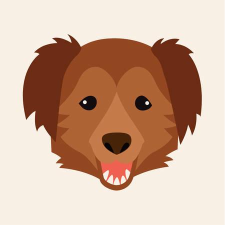Caucasian shepherd, breed dog square icon, vector illustration