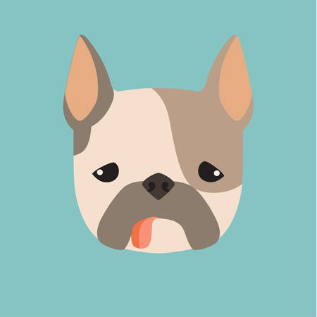 Terrier, breed dog square icon, vector illustration