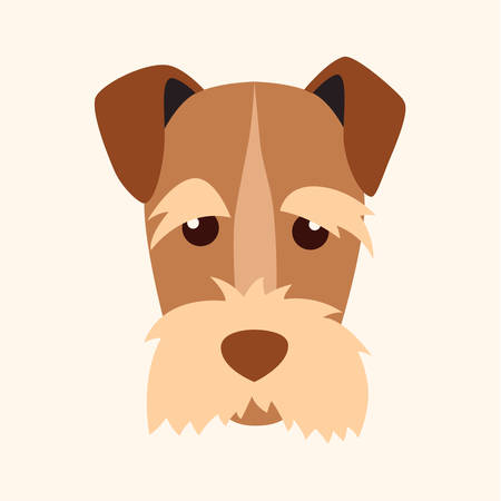 Mittelyshnauter, breed dog square icon, vector illustration