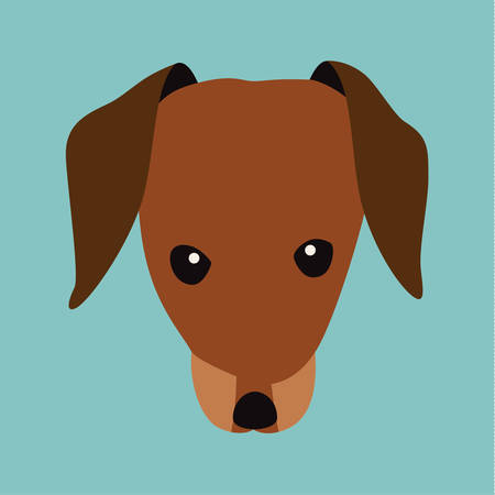 Tax, breed dog square icon, vector illustration