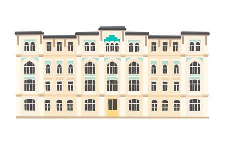 Palace, Istanbul landmarks. Cartoon style vector illustration, isolated on white background