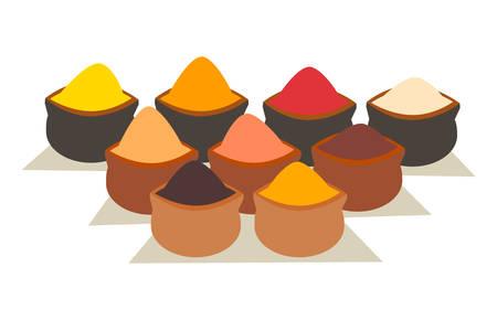 Spice icon. Organic spices vector illustration Stock Illustratie
