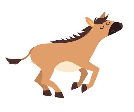 Onager icon vector illustration. Cartoon style partridge animals, isolated on a white background Stock Illustratie