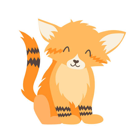 Sand cat icon vector illustration. Cartoon style partridge mammals, isolated on a white background Vettoriali