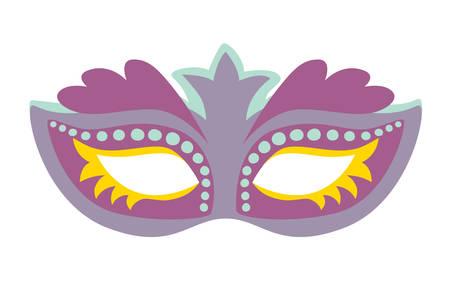 Venetian mask icon vector illustration. Venice party cartoon style. Hand drawn isolated tiramisu icon on white background