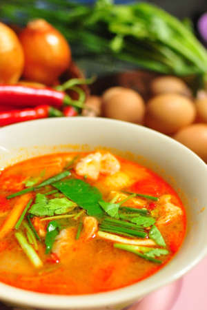 Spicy Thai food Tom Yum Goong