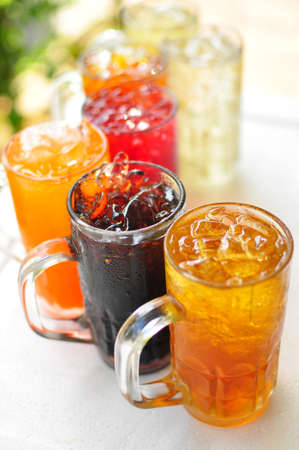 traditional thai drink,fruit and herbal cold drink photo