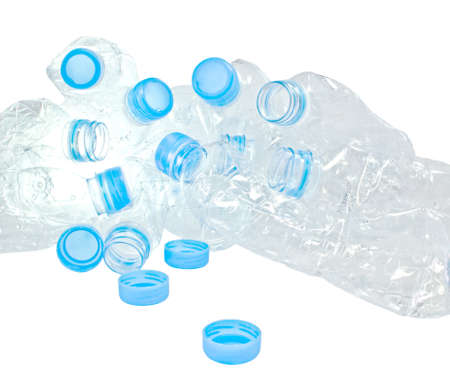 plastic bottles of mineral water or Plastic waste isolation photo