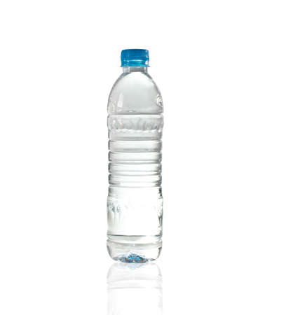 purify: Purify drinking water in a clear bottle Stock Photo
