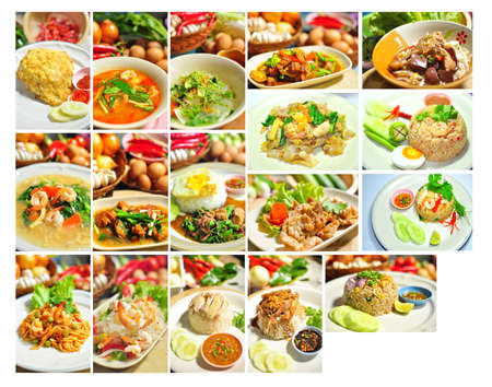 Collage of favorite thai foods photo