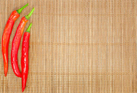 organic background: abstract design background vegetables on a bamboo mat background