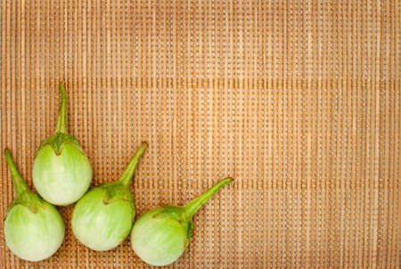 bamboo mat: abstract design background vegetables on a bamboo mat background