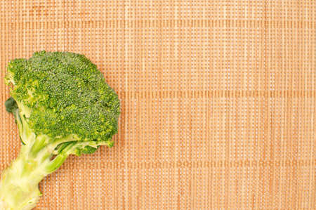 abstract design background vegetables on a bamboo mat background photo