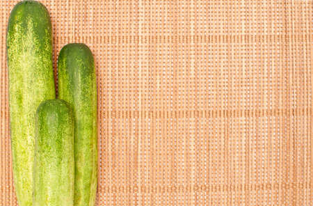 abstract design background vegetables on a bamboo mat background Stock Photo - 14843781