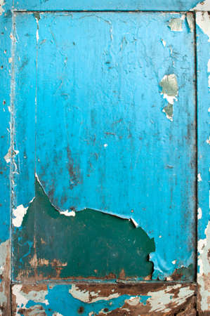 Old blue wood door weathered texture photo
