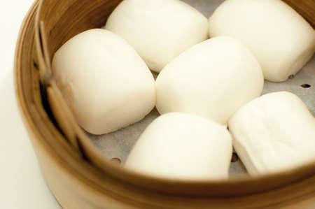 steamed chinese bun 写真素材