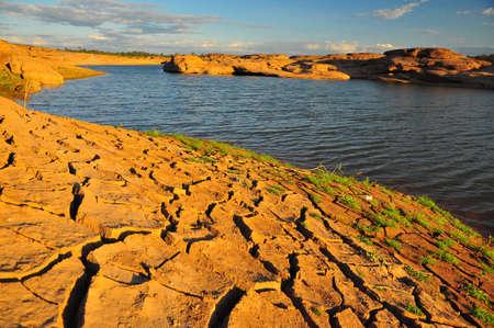 arid: Arid land and lake