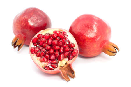 pomegranate isolated on white background Stock Photo