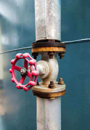 industrial valve in petrochemical factory photo