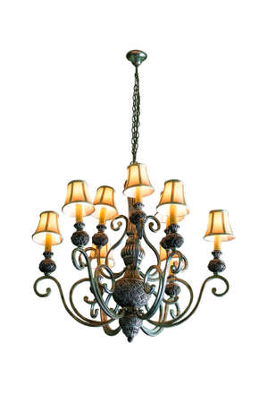 Vintage chandelier isolated on white background Stock Photo - 15299930