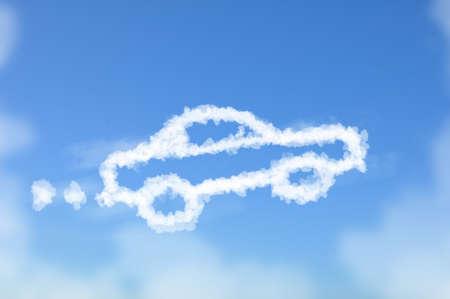 dream car: Nube en forma de concepto sueño coche,