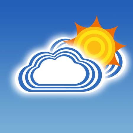 windsock: Stripe design Cloud and Sun, Weather set