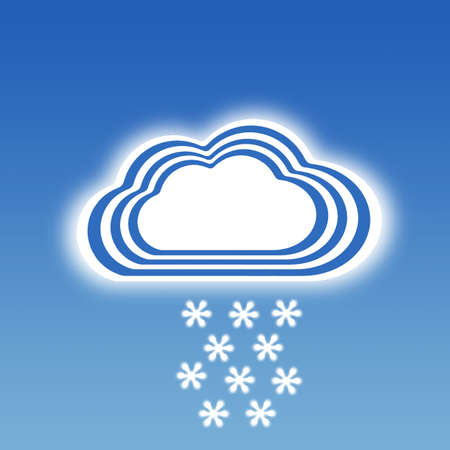Stripe design Cloud and snowflake icon, Weather set photo