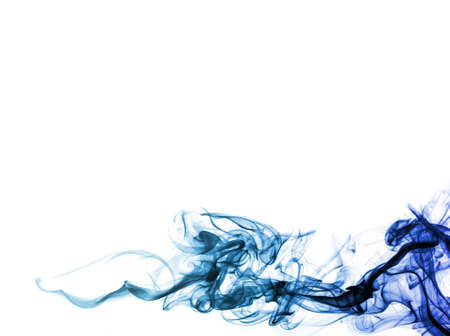 black smoke: colored smoke isolated on white background